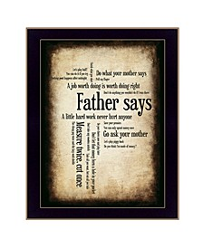 """Father Says By Susan Boyle, Printed Wall Art, Ready to hang, Black Frame, 14"""" x 20"""""""