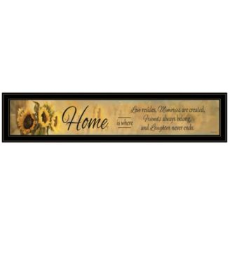 """Home ISE by Robin-Lee Vieira, Ready to hang Framed Print, Black Frame, 39"""" x 9"""""""