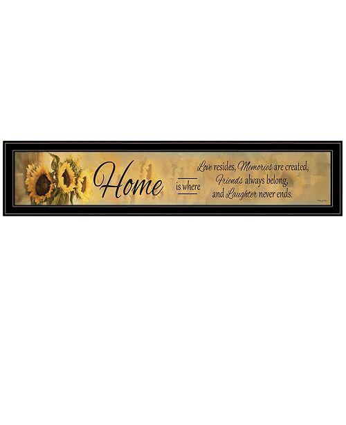 "Trendy Decor 4U Trendy Decor 4U Home ISE by Robin-Lee Vieira, Ready to hang Framed Print, Black Frame, 39"" x 9"""
