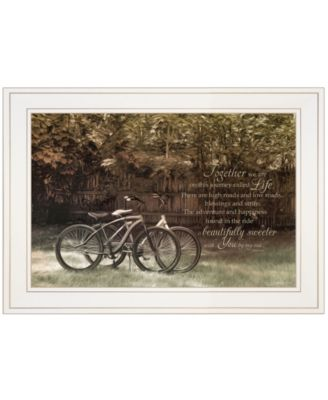 """Journey Together by Robin-Lee Vieira, Ready to hang Framed Print, White Frame, 21"""" x 15"""""""