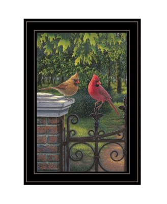 "Summer Cardinals by Kim Norlien, Ready to hang Framed Print, Black Frame, 15"" x 21"""