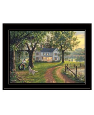 """Coming Home by Kim Norlien, Ready to hang Framed Print, Black Frame, 21"""" x 15"""""""