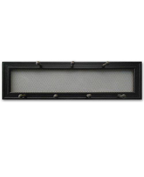 "Trendy Decor 4U Trendy Decor 4U 7-Peg Mug Rack by Millwork Engineering, Black Frame, 27"" x 8"""