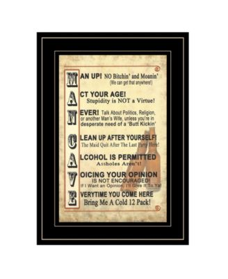 """Man Up by Millwork Engineering, Ready to hang Framed Print, Black Frame, 11"""" x 15"""""""