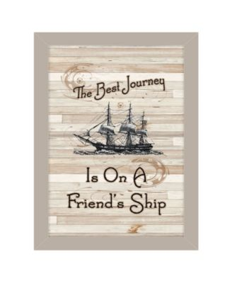 Friendship Journey by Millwork Engineering, Ready to hang Framed Print, Taupe Frame, 10