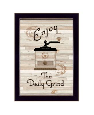 """The Daily Grind by Millwork Engineering, Ready to hang Framed Print, Black Frame, 10"""" x 14"""""""