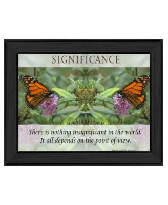 """Significance By Trendy Decor4U, Printed Wall Art, Ready to hang, Black Frame, 19"""" x 15"""""""