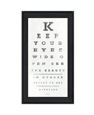 """Eye Chart II by Marla Rae, Ready to hang Framed Print, Black Frame, 15"""" x 27"""""""