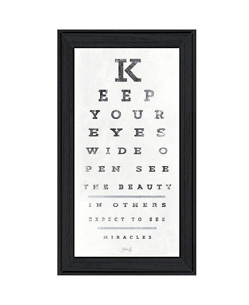 "Trendy Decor 4U Trendy Decor 4U Eye Chart II by Marla Rae, Ready to hang Framed Print, Black Frame, 15"" x 27"""