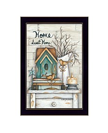 """Home Sweet Home By Mary June, Printed Wall Art, Ready to hang, Black Frame, 14"""" x 20"""""""