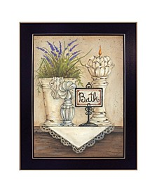 "Bath By Mary June, Printed Wall Art, Ready to hang, Black Frame, 10"" x 12"""