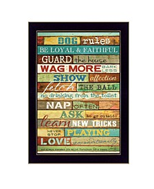 Trendy Decor 4U Dog Rules By Marla Rae, Printed Wall Art Collection