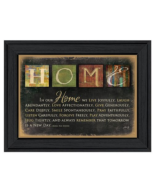 """Trendy Decor 4U Trendy Decor 4U In Our Home By Marla Rae, Printed Wall Art, Ready to hang, Black Frame, 27"""" x 21"""""""