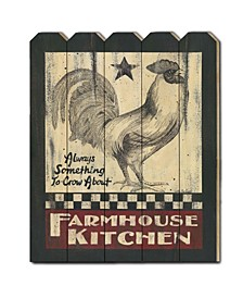 "Farmhouse Kitchen by Linda Spivey, Printed Wall Art on a Wood Picket Fence, 16"" x 20"""