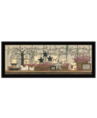 """Willow Tree Shelf Collection by Linda Spivey, Ready to hang Framed Print, Black Frame, 39"""" x 15"""""""