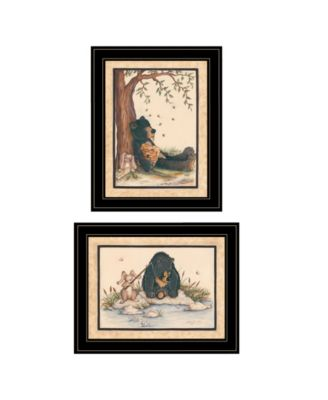 Gone Fishing 2-Piece Vignette by Mary June, White Frame, 19