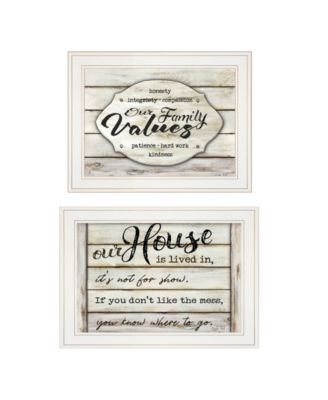 Family Values 2-piece Vignette By Cindy Jacobs, White Frame, 21
