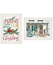 """Come Home for Christmas 2-Piece Vignette by Cindy Jacobs and Richard Cowdrey, White Frame, 15"""" x 19"""""""