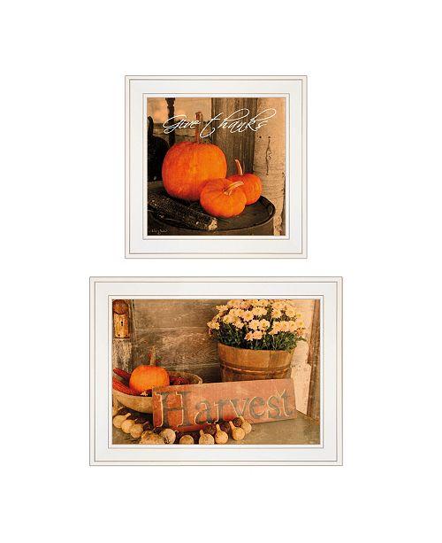 "Trendy Decor 4U Trendy Decor 4U Autumn Harvest 2-Piece Vignette by Anthony Smith, White Frame, 15"" x 19"""