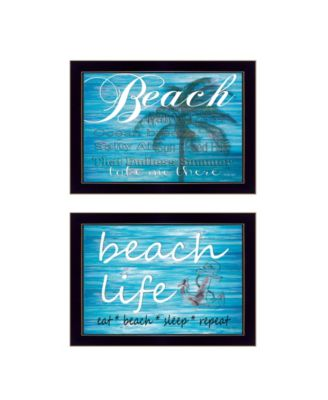 Beach Life 2-Piece Vignette by Cindy Jacobs, White Frame, 15