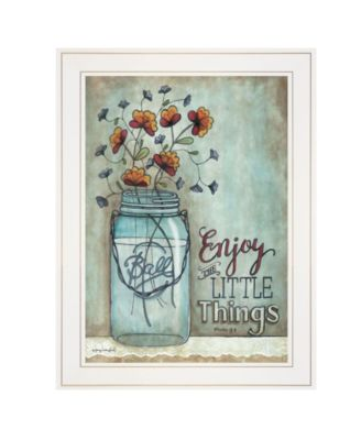 """Enjoy the Little Things by Tonya Crawford, Ready to hang Framed print, White Frame, 15"""" x 19"""""""