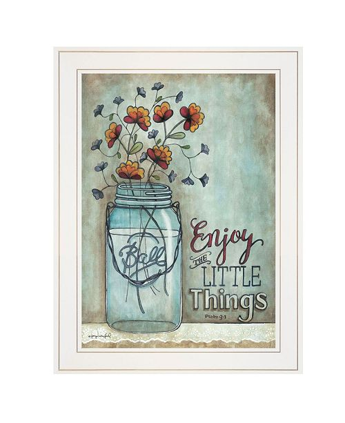 "Trendy Decor 4U Trendy Decor 4U Enjoy the Little Things by Tonya Crawford, Ready to hang Framed print, White Frame, 15"" x 19"""