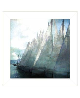 "Sailboat Marina I by Bluebird Barn Group, Ready to hang Framed Print, White Frame, 15"" x 15"""