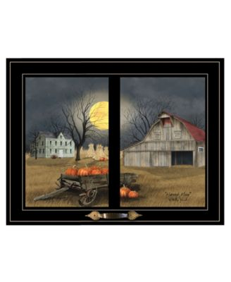"""Harvest Moon by Billy Jacobs, Ready to hang Framed Print, Black Window-Style Frame, 19"""" x 15"""""""