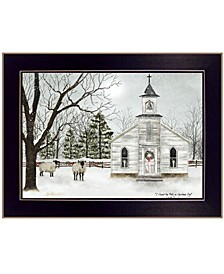 """I Heard the Bells on Christmas by Billy Jacobs, Ready to hang Framed Print, Black Frame, 18"""" x 14"""""""