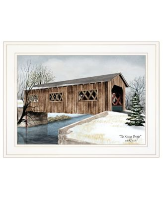 """The Kissing Bridge by Billy Jacobs, Ready to hang Framed Print, White Frame, 19"""" x 15"""""""