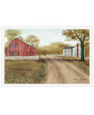 """Summer in the Country by Billy Jacobs, Ready to hang Framed Print, White Frame, 38"""" x 26"""""""