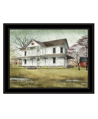 """April Showers by Billy Jacobs, Ready to hang Framed Print, Black Frame, 27"""" x 21"""""""
