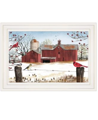 """Winter Friends by Billy Jacobs, Ready to hang Framed Print, White Frame, 15"""" x 11"""""""