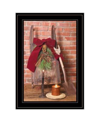 """Let Christmas Live by Billy Jacobs, Ready to hang Framed Print, Black Frame, 15"""" x 21"""""""