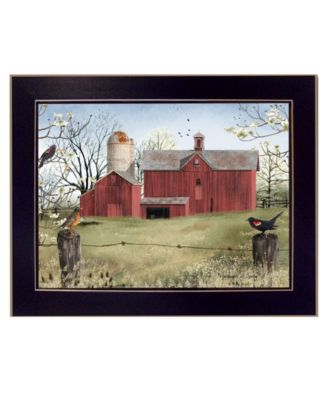 """Harbingers of Spring By Billy Jacobs, Printed Wall Art, Ready to hang, Black Frame, 18"""" x 14"""""""