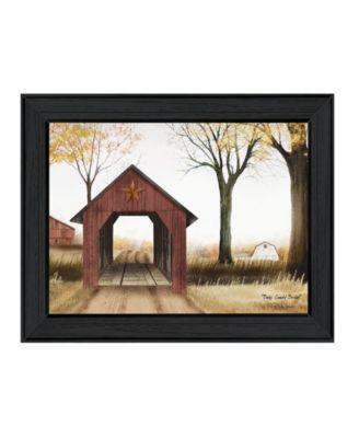 "Bucks County Bridge By Billy Jacobs, Printed Wall Art, Ready to hang, Black Frame, 27"" x 21"""