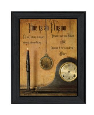 """Time is the Illusion By Billy Jacobs, Printed Wall Art, Ready to hang, Black Frame, 19"""" x 15"""""""
