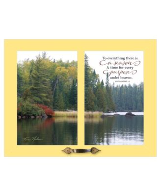 """To Everything by Kim Norlien, Ready to hang Framed Print, Yellow Frame, 19"""" x 15"""""""