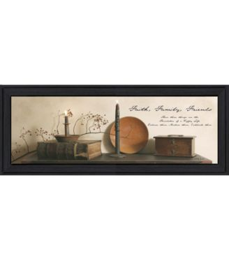 """Faith, Family and Friends By Billy Jacobs, Printed Wall Art, Ready to hang, Black Frame, 38"""" x 14"""""""
