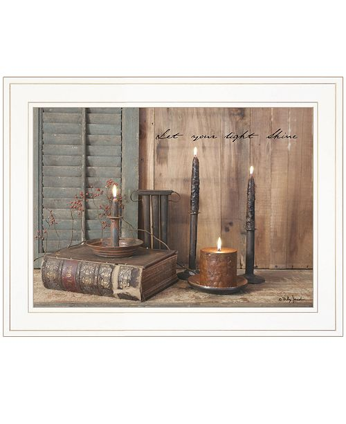 """Trendy Decor 4U Trendy Decor 4U Let Your Light Shine by Billy Jacobs, Ready to hang Framed Print, White Frame, 19"""" x 15"""""""