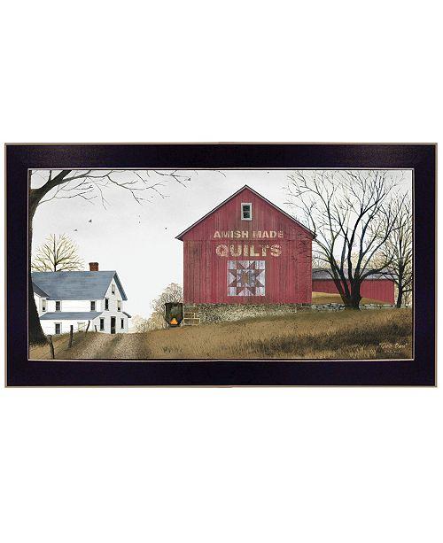 "Trendy Decor 4U Trendy Decor 4U The Quilt Barn by Billy Jacobs, Ready to hang Framed Print, Black Frame, 32"" x 18"""