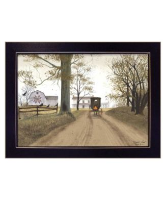 Headin Home by Billy Jacobs, Ready to hang Framed Print, White Frame, 27