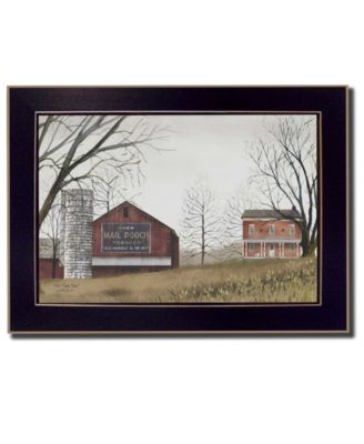 """Mail Pouch Barn By Billy Jacobs, Printed Wall Art, Ready to hang, Black Frame, 14"""" x 10"""""""