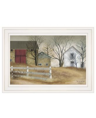 """The Old Stone Barn by Billy Jacobs, Ready to hang Framed Print, White Frame, 15"""" x 11"""""""
