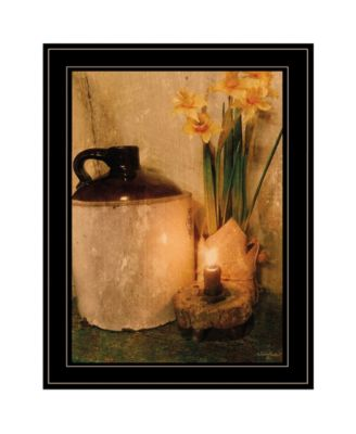 """Daffodils by Candlelight by Anthony Smith, Ready to hang Framed Print, Black Frame, 15"""" x 21"""""""