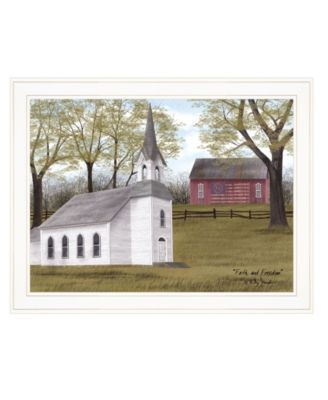 """Faith and Freedom by Billy Jacobs, Ready to hang Framed Print, White Frame, 27"""" x 21"""""""