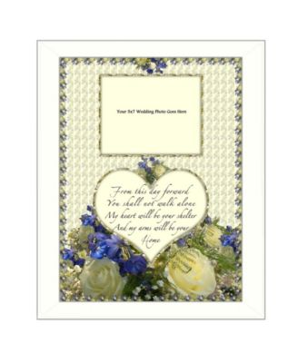 """From this Day By Trendy Decor4U, Printed Wall Art, Ready to hang, White Frame, 14"""" x 18"""""""