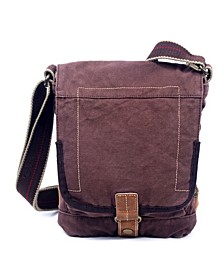 Atona Classic Flap Canvas Crossbody Bag