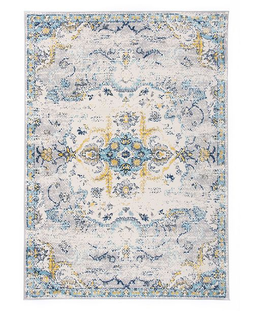 Main Street Rugs Home Lyon Lyn835 Blue Area Rug Collection