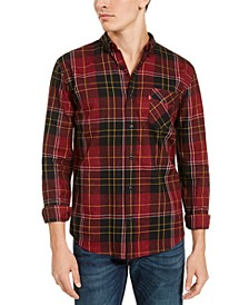 Men's Booth Regular-Fit Plaid Flannel Shirt